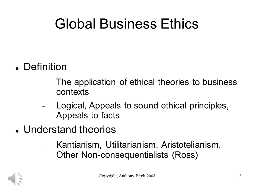 Definition of Business Ethics